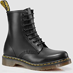 Dr. Martens 1460 Originals Eight-Eye Lace-Up Boot,Black Smooth Leather,4 UK / 5 M US Mens / 6  M US Womens