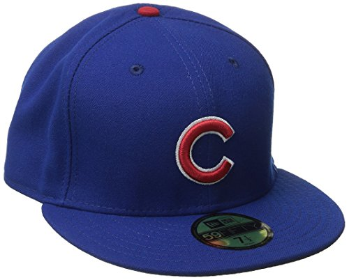 MLB Chicago Cubs Game AC On Field 59Fifty Fitted Cap, Royal, 7 1/8