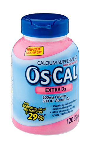 Os-Cal Extra D3 Calcium Supplement Coated Caplets - 120 Ct (Pack Of 3)