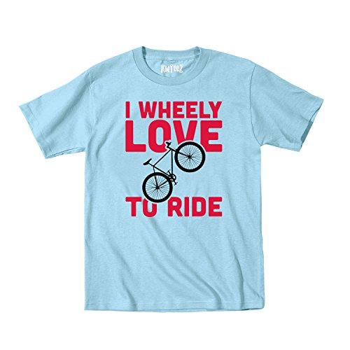I Wheely Love To Ride, Bike Cute Toddler Novelty - Toddler T-Shirt - Light blue - 4T