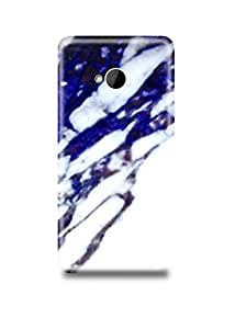 Blue & White Marble HTC M7 Case