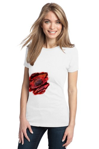 ZOMBIE BITE HALLOWEEN COSTUME Ladies' T-shirt / Gory Bloody Gross Blood Tee Shirt