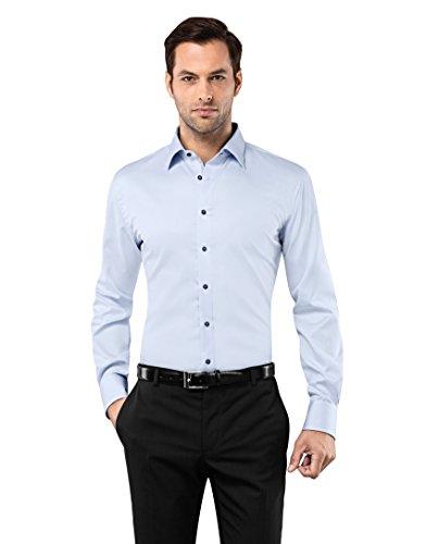 VB -  Camicia classiche  - Basic - Classico  - Maniche lunghe  - Uomo bleu glacé Medium