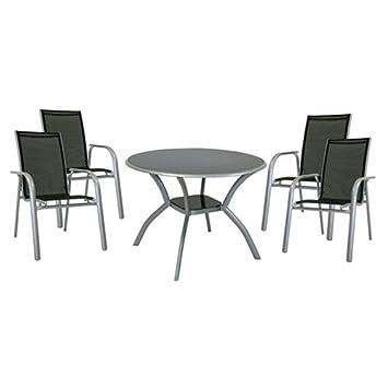 Testrut 000001 Gartenmöbel-Set Contiempo, 1 Tisch und 4 Stuhle