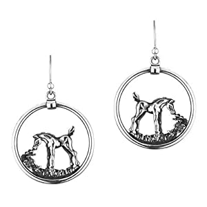Kabana Equestrian Horse in Circle Earrings