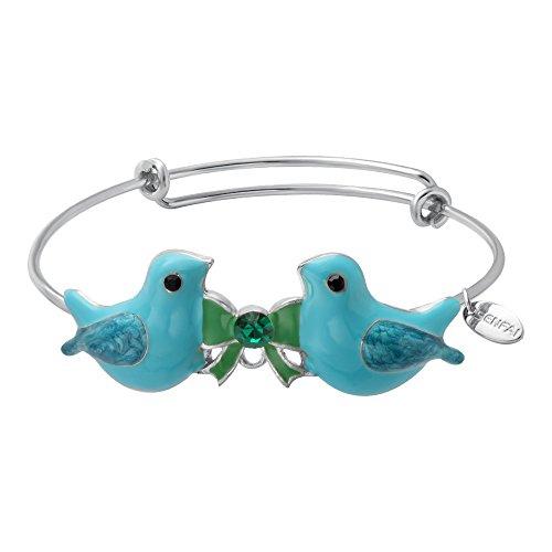SENFAI puro con ciondolo a forma di uccello in lega blu, da donna, moda Mujer per regali di Natale, Rame, colore: blu, cod. SF-BG0703-C
