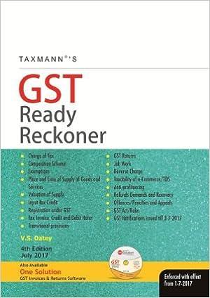 Taxmann's GST Ready Reckoner