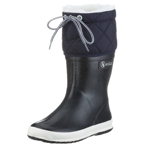 Aigle-Giboule-Unisex-Kinder-Langschaft-Gummistiefel-Blau-MarineBlanc-29-EU-UK-Child-11