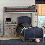 Bundle-20 Universal Youth Study Loft Bed with Youth Mesh Bed Size: Full