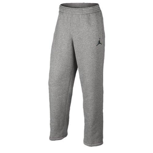 Nike Men's Jordan Jumpman Brushed Oh Pants Style: 689018-063, Dk Grey Heather/Black, Medium