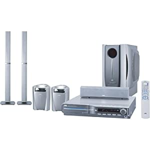 JVC THC5 Home Theater System with 5-Disc DVD Player and Floorstanding Front Speakers (Discontinued by Manufacturer)