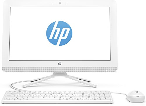 "HP 20-c011nl Desktop All-in-One, Display HD da 19,5"", Processore APU AMD Quad-Core E2-7110, RAM 4GB, HDD da 1TB, Bianco"