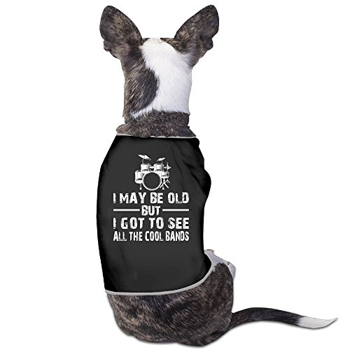 YRROWN I May Be Old But See All The Cool Bands Design Puppy Dog Clothes (Devil Be Gone compare prices)