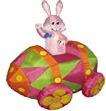6 feet Party blow up Bunny in egg cell Car - backyard Blow upward Decoration