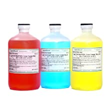 CapitolBrand pH Buffer Solution Kit, includes pH 4.00, 7.00 and 10.00 Color-Coded pH Buffer Solutions, pH Buffer Accuracy:  +/-0.01 at 25 Degree Celsius