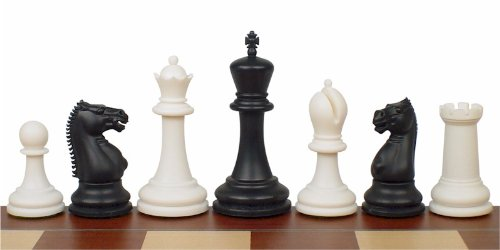 Zukert Series Plastic Chess Set in Black & Ivory
