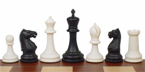 Zukert Series Plastic Chess Set in Black & Ivory