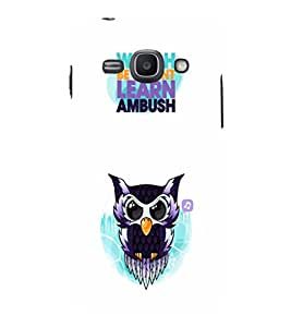 EPICCASE Watching Owl Mobile Back Case Cover For Samsung Galaxy Ace 3 (Designer Case)