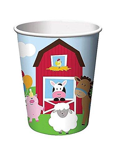 Farmhouse Fun Hot/Cold Cup 9 Oz (8) Farm Animal Barnyard Party front-534273