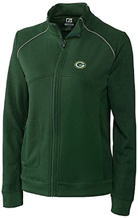 NFL Green Bay Packers Ladies CB DryTec Edge Full Zip Jacket by Cutter & Buck