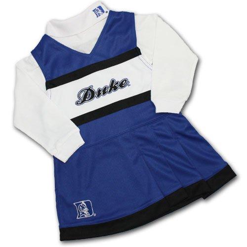 [Duke Blue Devils NCAA Toddler Cheerleader Turtleneck Jumper - 4T] (Cheerleader Outfit For Sale)