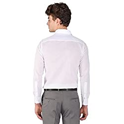 PSK Regular Cotton Full Sleeve Men's Formal Shirt White Large