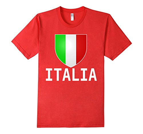 Men's ITALIA Flag T-shirt 2016 Italian Tee Italy Women Kids Men Small Red (Italian Rugby compare prices)