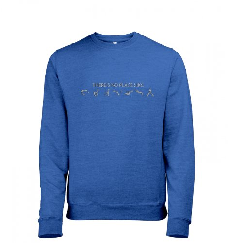There's No Place Like Earth Mens Heather Sweatshirt (Medium (38/40