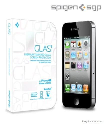 国内正規代理店品SPIGEN SGP iPhone4/4S GLAS.t Premium Tempered Glass Series SGP08645