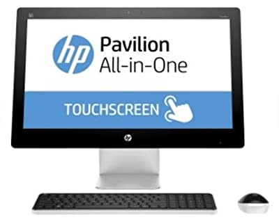 Newest HP Pavilion 23 Inch IPS Touchscreen Full HD All-in-One Desktop Flapship Edition 4th gen Intel Core i7-4785T Quad-Core 8G 1T DVD Windows 10 Home Pearl