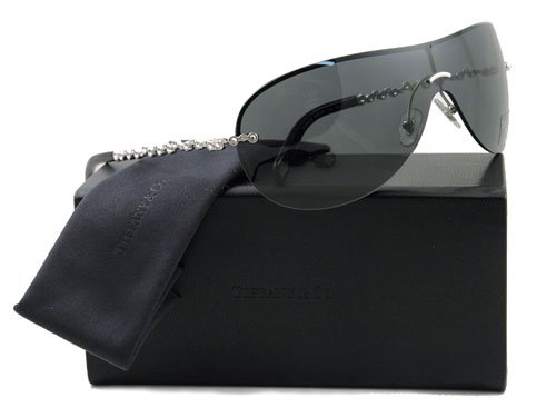 AUTHENTIC TIFFANY SUNGLASSES TF 3008B BLACK 6001/3F