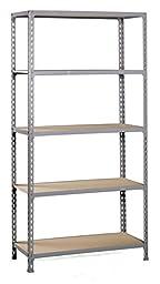 Simonrack Kit Maderclick Super plus 5 Shelf Kit, Dark Grey - Wood