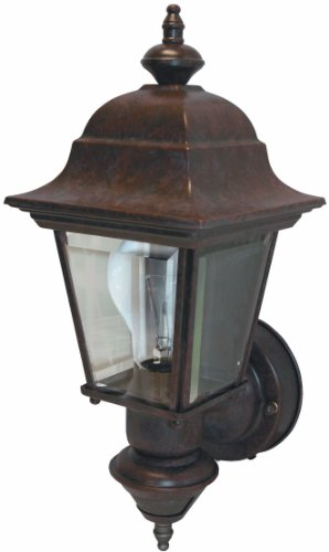 Heath/Zenith SL-4155-BR 150-Degree Motion-Activated Artisan Classic Style Decorative Lantern, Rustic Brown