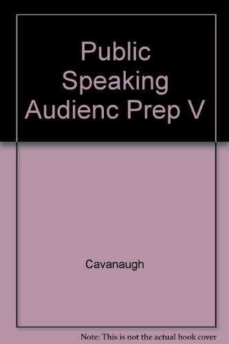 Public Speaking Audienc Prep V