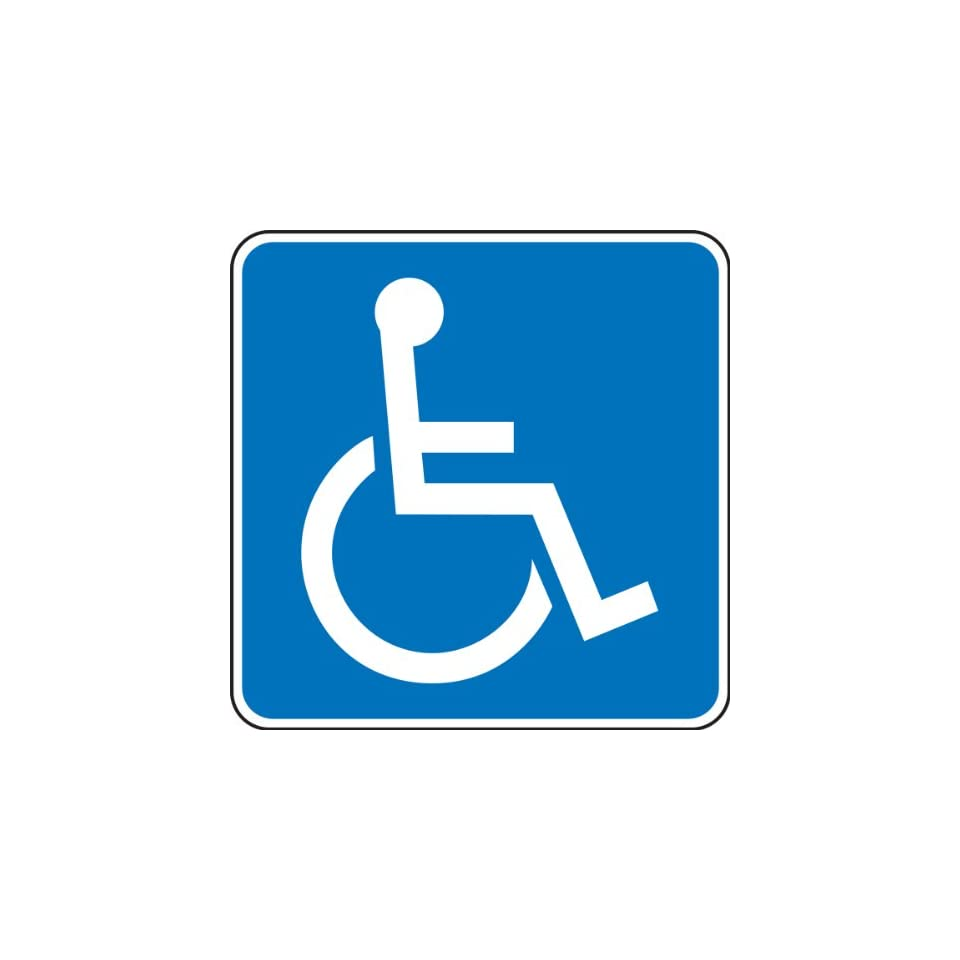 Accuform Signs FRA205RA Engineer Grade Reflective Aluminum Handicapped Parking Sign (New York, Texas), Legend (WHEELCHAIR SYMBOL), 24 Length x 24 Width x 0.080 Thickness, White on Blue
