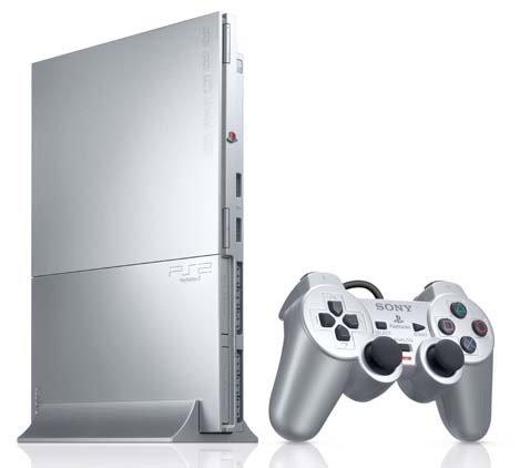PlayStation 2 Konsole Slim, silber (inkl. Dual Shock Controller)