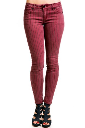 Striped Vintage Jeans in Plum
