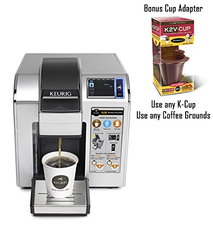 Keurig VUE V1200 Commercial Brewing System and BONUS K2V-Cup 2 in 1 Single Serve Coffee Adapter - Use Any K-Cup or Coffee Grounds! (Touch Screen Keurig compare prices)