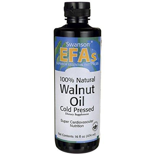 100% Natural Walnut Oil, Cold Pressed 16 fl oz (473 ml) Liquid