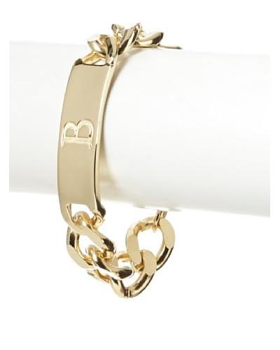 Ettika Initial B 18K Gold-Plated ID Bracelet As You See