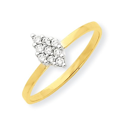 10k Cz Promise Ring, Size 6