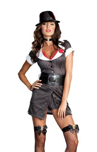 Dreamgirl Women's Sexy Gangster Mobster Boss Costume