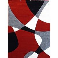 Modern Area Rug # H 284 Red