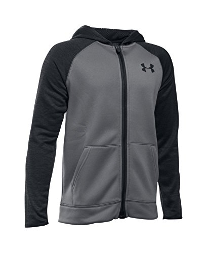 Under Armour Boys' Storm Armour Fleece Full Zip Hoodie, Graphite (040), Youth Large