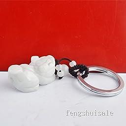 Fengshui Jade Pi Xiu/ Piyao Keychain+ Free Red String Bracelet W1227