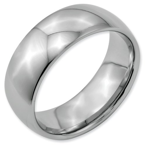 Titanium 8mm Polished Band Ring Size 4 Real Goldia Designer Perfect Jewelry Gift for Christmas