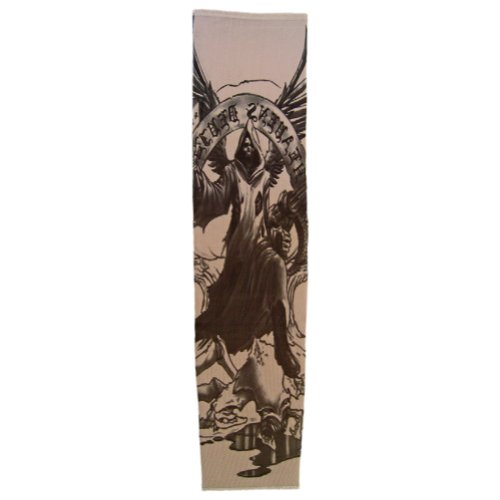 Tattoo Sleeve (Angel of Death Reaper) ~ Party & Halloween Accessory