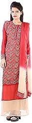 JYOTI Women's Georgette Unstiched salwar Suit (JBAM-35, Buscuit)