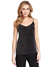 M&S Collection Sparkle Effect Camisole Top