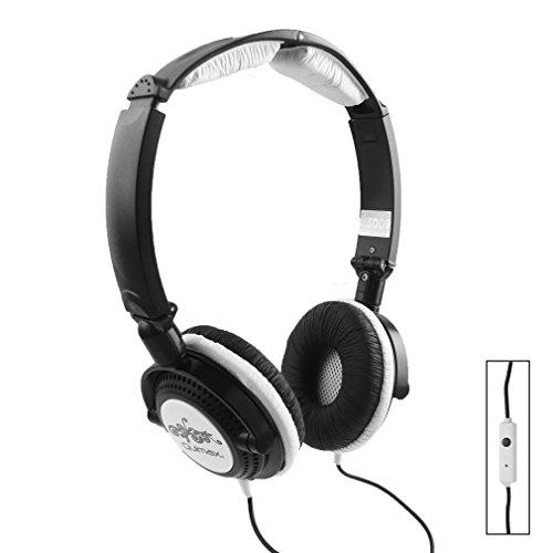 Qulmax ® Mediacom SmartPad 10.1 HD iPro111 / Mediacom SmartPad i10 3G Tablet Schwarz Faltbare Rotating HD Kopfhörer (HSQ09) mit Mikrofon und Fernbedienung